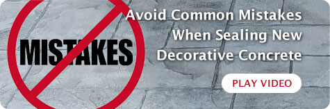 avoid mistakes when sealing decorative concrete